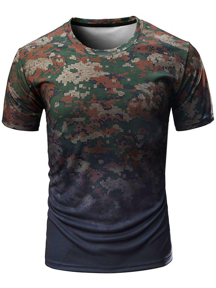 Buy Digital Camo Print Crew Neck T-shirt