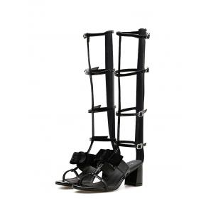 where to buy cheap real Chunky Heel Gladiator Bowknot Sandals - Black 38 cheap sale best seller cheap best wholesale outlet limited edition fashion Style cheap online bvTllVFh