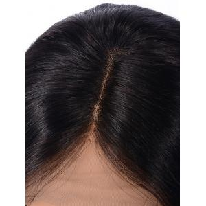 Center Parting Straight Bob Human Hair Lace Front Wig -