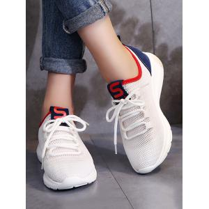 Breathable Mesh Lace Up Outdoor Sneakers -