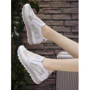 Slip On Lace Patchwork Sneakers -