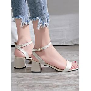 Block Heel Party Ankle Strap Sandals -