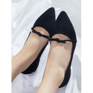 Tied Knot Slip On Flat Shoes -