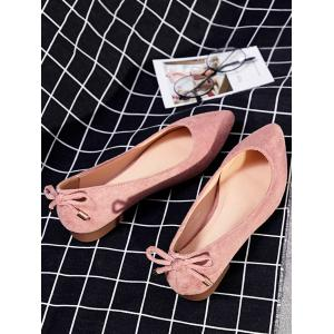 Bowknot Back Pointed Toe Ballet Flats -