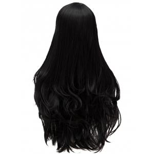 Long Oblique Bang Slightly Curly Heat Resistant Synthetic Wig -