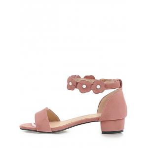 Plus Size Block Heel Floral Chic Prom Sandals - PINK Clearance Low Price Professional Online GWdYTk