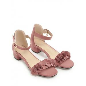 Plus Size Ankle Strap Chic Daily Sandals - PINK Cheap Footlocker Finishline Clearance Explore FnSD2