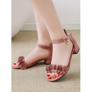 Plus Size Ankle Strap Chic Daily Sandals - PINK Low Price Sale Online Cheap Discount Authentic Discount Cheap Buy Cheap Choice 2iAOHOOpm