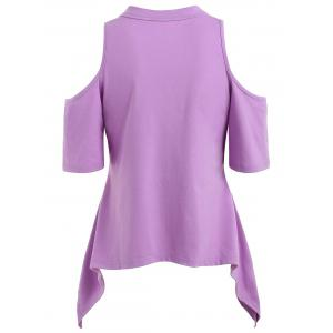 Keyhole Neck Asymmetrical T-shirt -