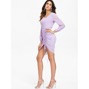 Casual Side Ruched Asymmetric Dress -