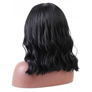 Long Middle Part Natural Wavy Synthetic Wig -