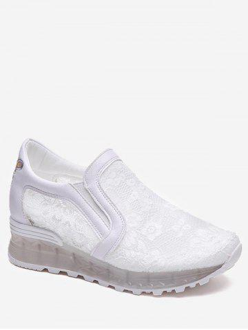 Outfit Slip On Lace Patchwork Sneakers