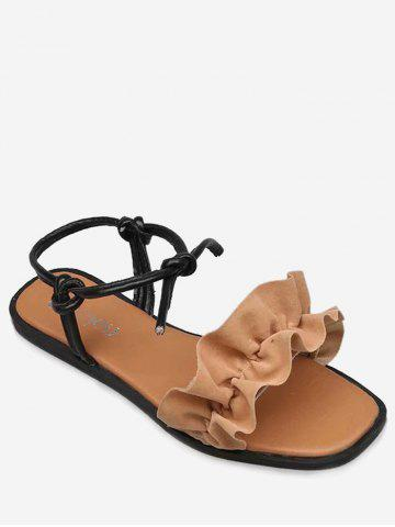 Best Wholesale Sale Online Plus Size Lace Up Outdoor Leisure Hollow Out Sandals - APRICOT Very Cheap Price Cheap Sale Online lWNWl