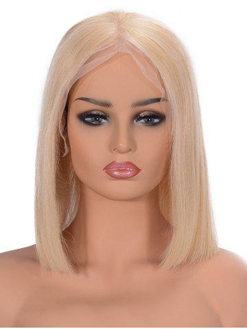 Online Center Parting Straight Bob Lace Front Human Hair Wig
