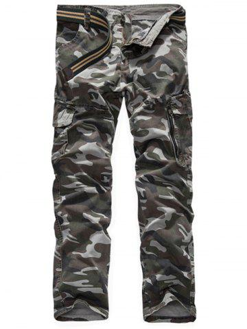 Outfits Zipper Fly Camouflage Print Cargo Pants