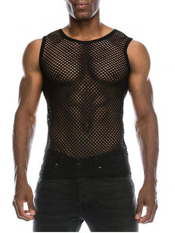Chic Mesh See Through Tank Top