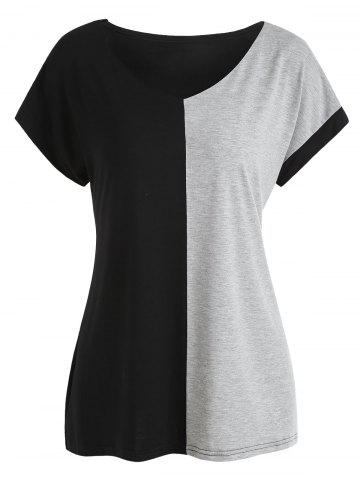 Shop V Neck Two Tone Tee