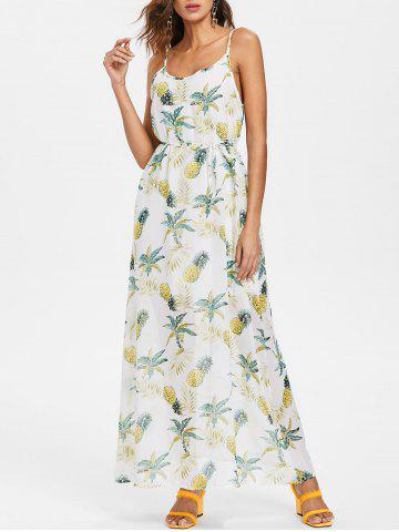 Outfits Pineapple Print Chiffon Maxi Dress