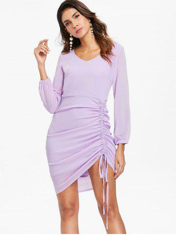 Casual Side Ruched Asymmetric Dress