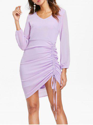 Best Casual Side Ruched Asymmetric Dress