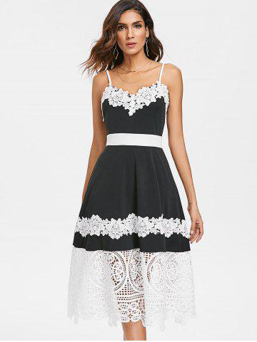 Lace Trim Cami Strap Midi Dress