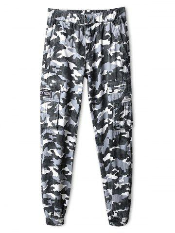 Hot Elastic Waistband Camouflage Print Jogger Pants