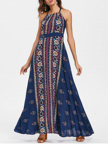 Cheap Bohemia Sleeveless Print Maxi Dress