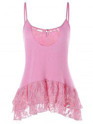 Lace Panel Keyhole Cami Top -