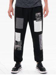 Casual Narrow Feet Paint Print Panel Pants -