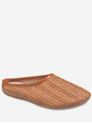 Hooded Straw Slip On Shoes -