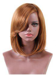 Short Side Bang Straight Bob Heat Resistant Synthetic Wig -