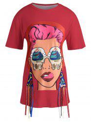 Graphic T-shirt with Ribbons -