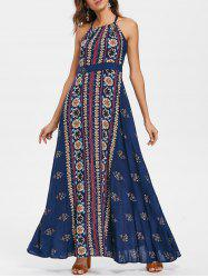 Bohemia Sleeveless Print Maxi Dress -