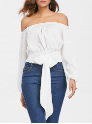 Long Sleeve Off The Shoulder Blouse -