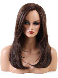 Long Inclined Bang Capless Straight Synthetic Wig -