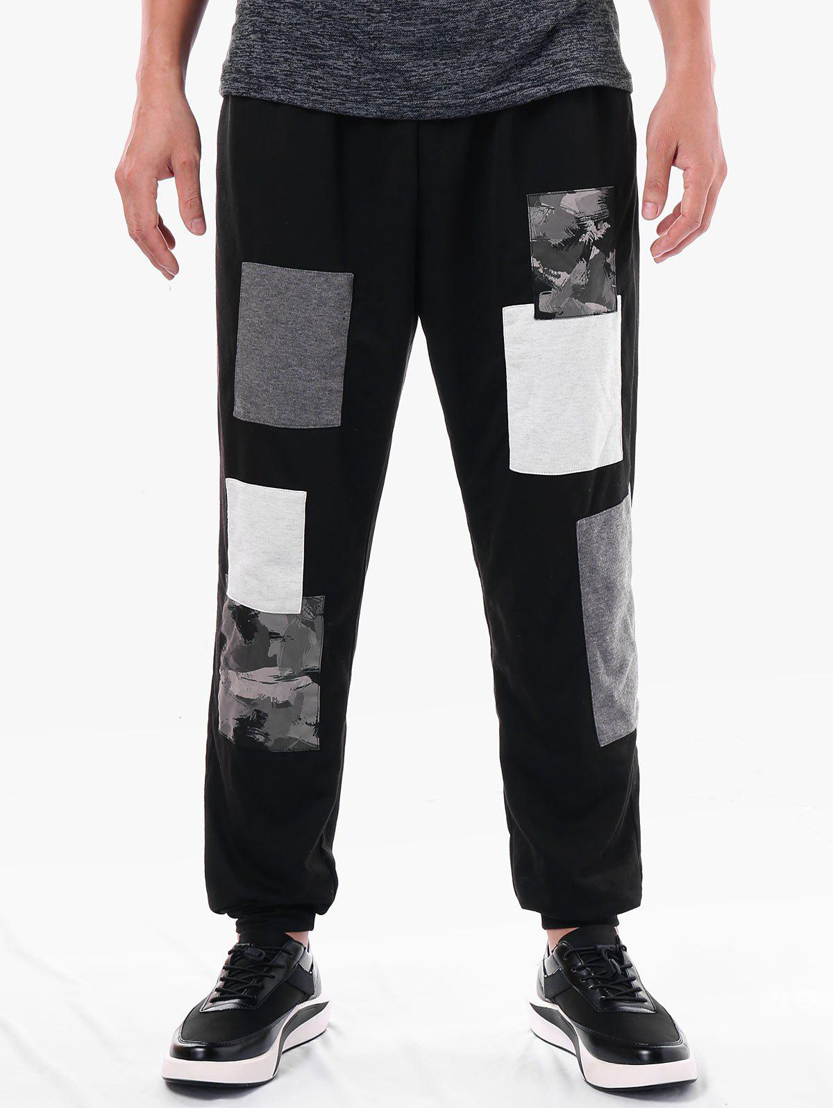 Hot Casual Narrow Feet Paint Print Panel Pants