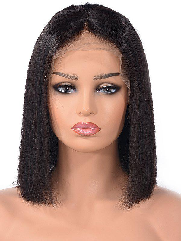 Discount Center Parting Straight Bob Human Hair Lace Front Wig