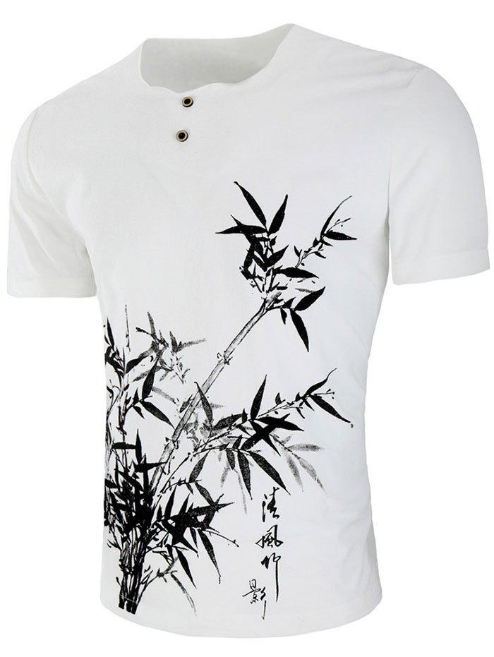 Best Chinese Bamboo Drawing Short Sleeve T-shirt