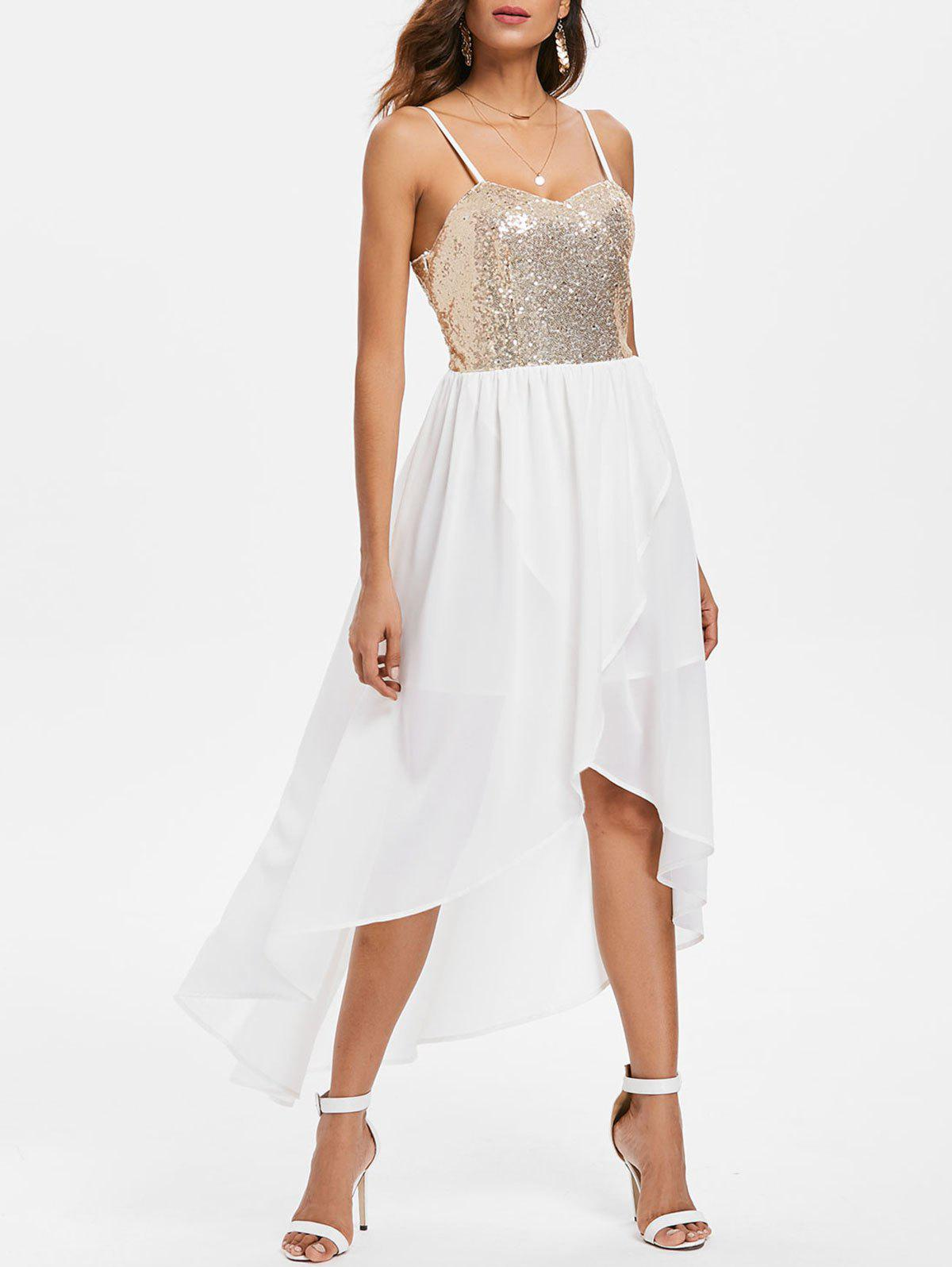 Outfit Sequin High Low Chiffon Cami Dress