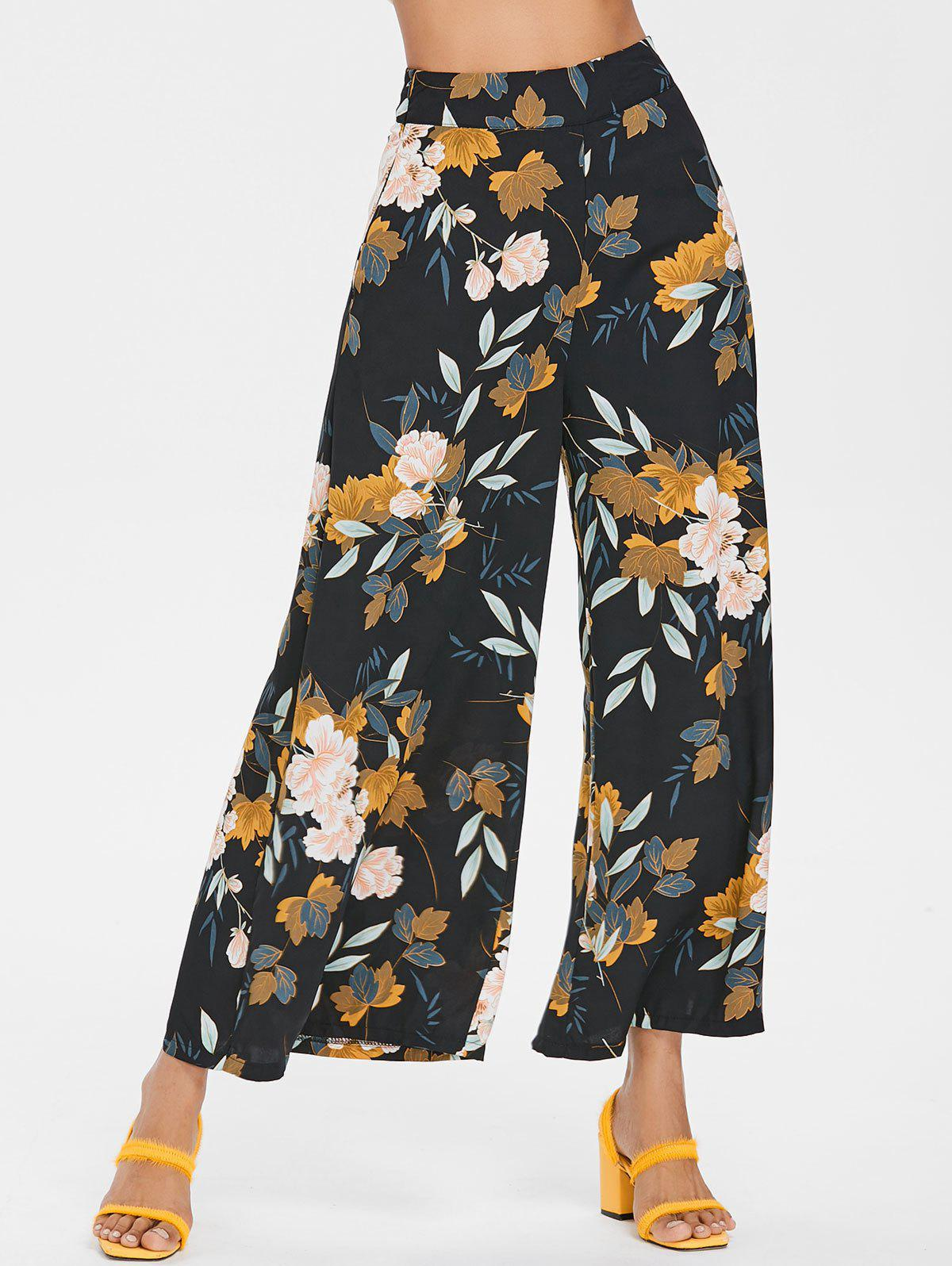 Best Bohemian High Rise Floral Palazzo Pants