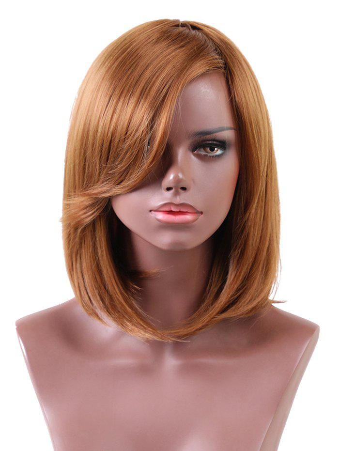 Trendy Short Side Bang Straight Bob Heat Resistant Synthetic Wig