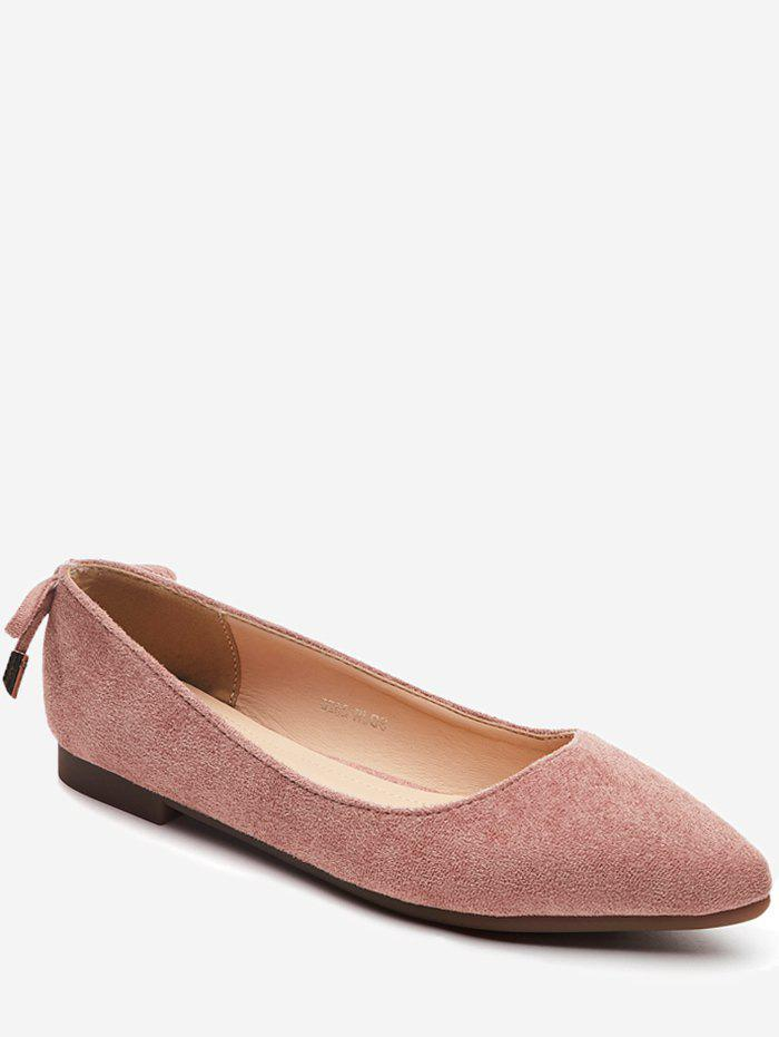 Outfit Bowknot Back Pointed Toe Ballet Flats