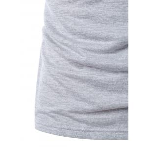 Sleeveless Solid Color Drawstring Hoodie -