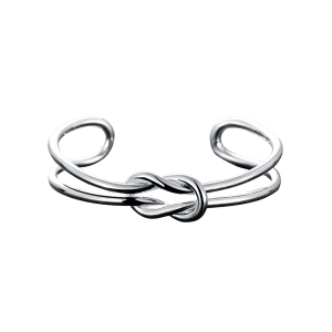 Unique Hollow Out Knotted Cuff Bracelet -