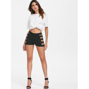 Strappy Side Push Up Fit Shorts -