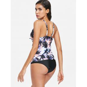 Coconut Tree Plunging Tankini Set -