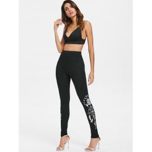 Arrows Print Fitted Workout Leggings -