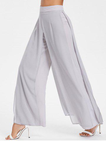 Buy Chiffon Overlay Wide Leg Trousers