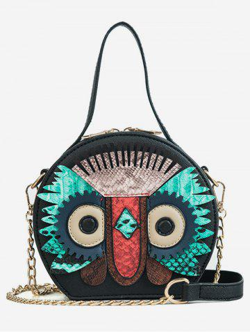 Latest PU Leather Owl Round Pattern Crossbody Bag