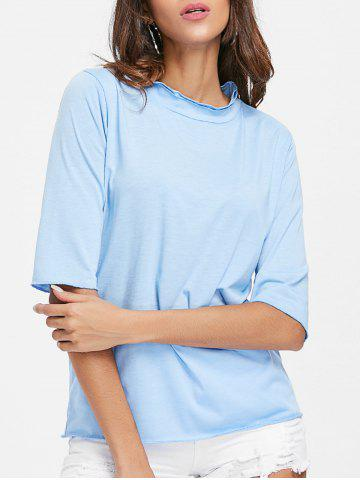 New Half Sleeve Ruffled Neck T-shirt